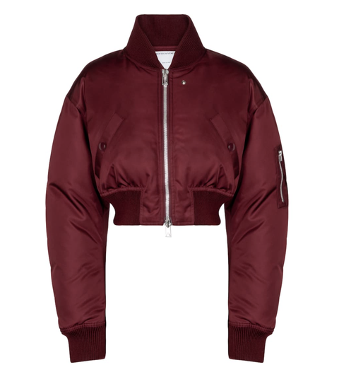 cropped down bomber jacket