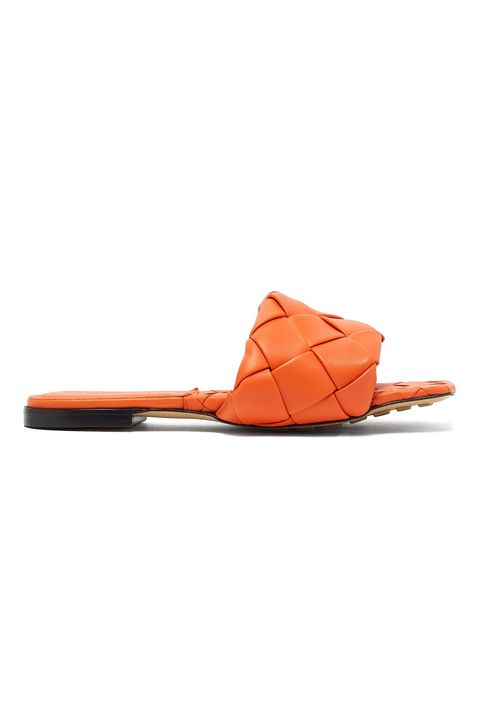 Footwear, Orange, Tan, Shoe, Sandal, Leather, Slingback, Slipper, Flip-flops, Strap,