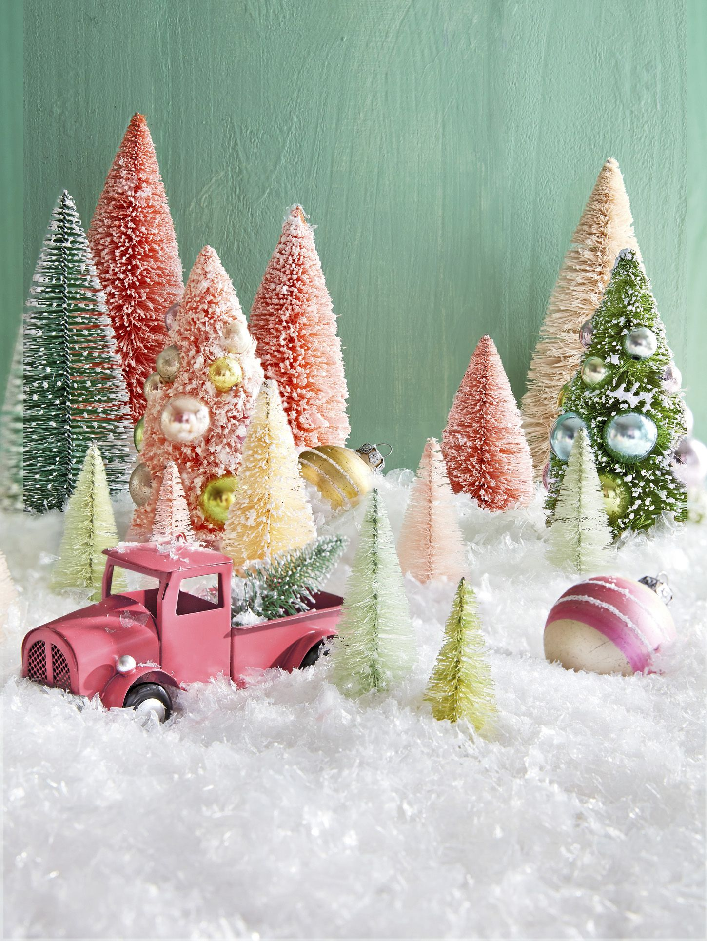 Bottlebrush Tree Decorating Ideas Christmas Bottlebrush Trees