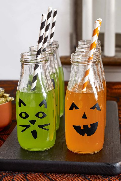 halloween party ideas - bottles
