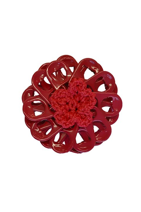 Red, Fashion accessory, Petal, Ruby, Brooch, Jewellery, Tableware,