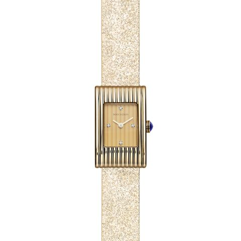 Analog watch, Watch accessory, Watch, Beige, Rectangle, Jewellery, Fashion accessory, Strap, Material property, Metal,