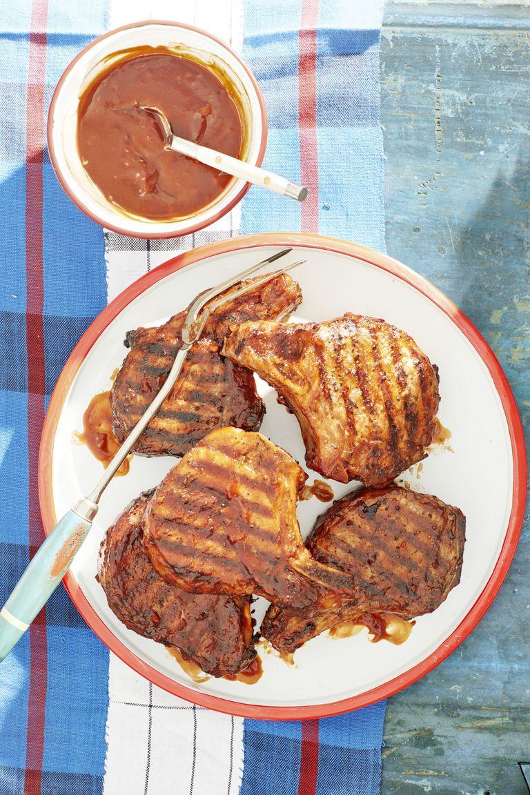 bourbon bbq glazed pork chops