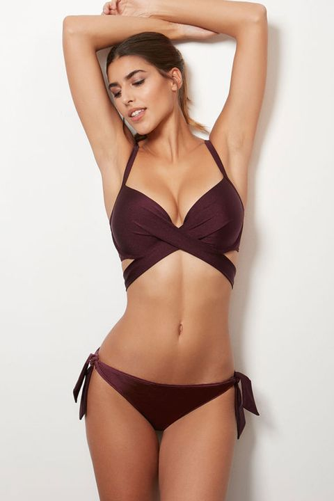 new styles 9fc1a 5e730 This ASOS knot minimal crop bikini is so popular it keeps selling out