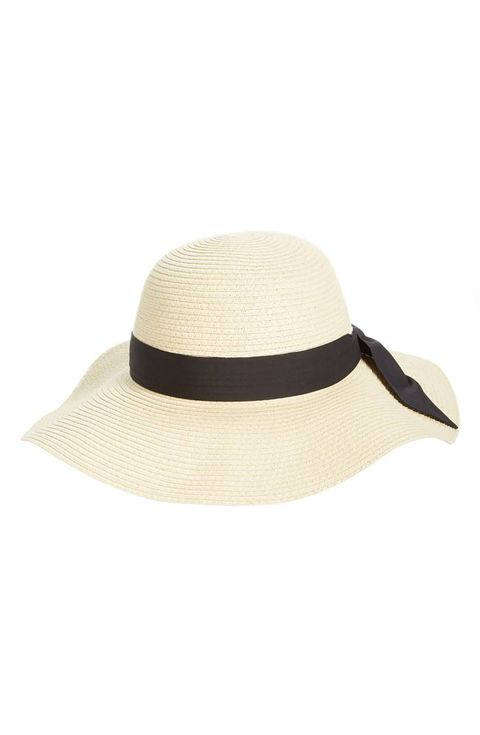 bow band floppy straw kentucky derby hat