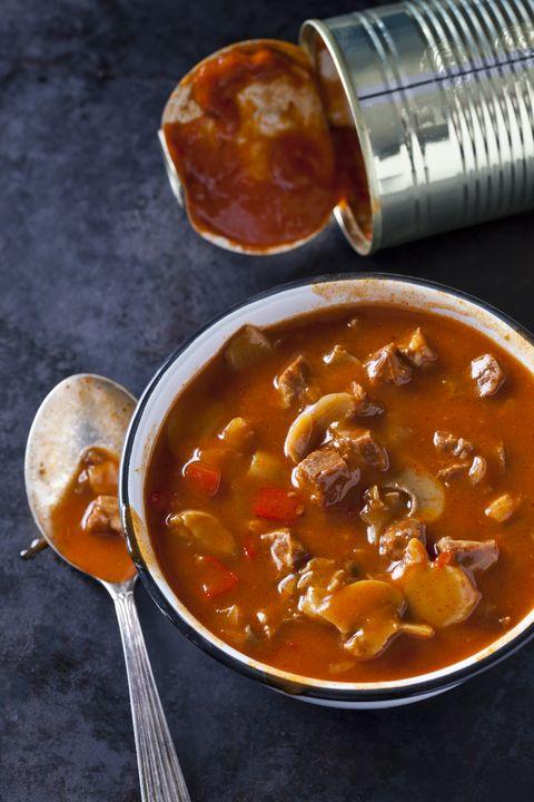 Bowl of Hungarian goulash soup