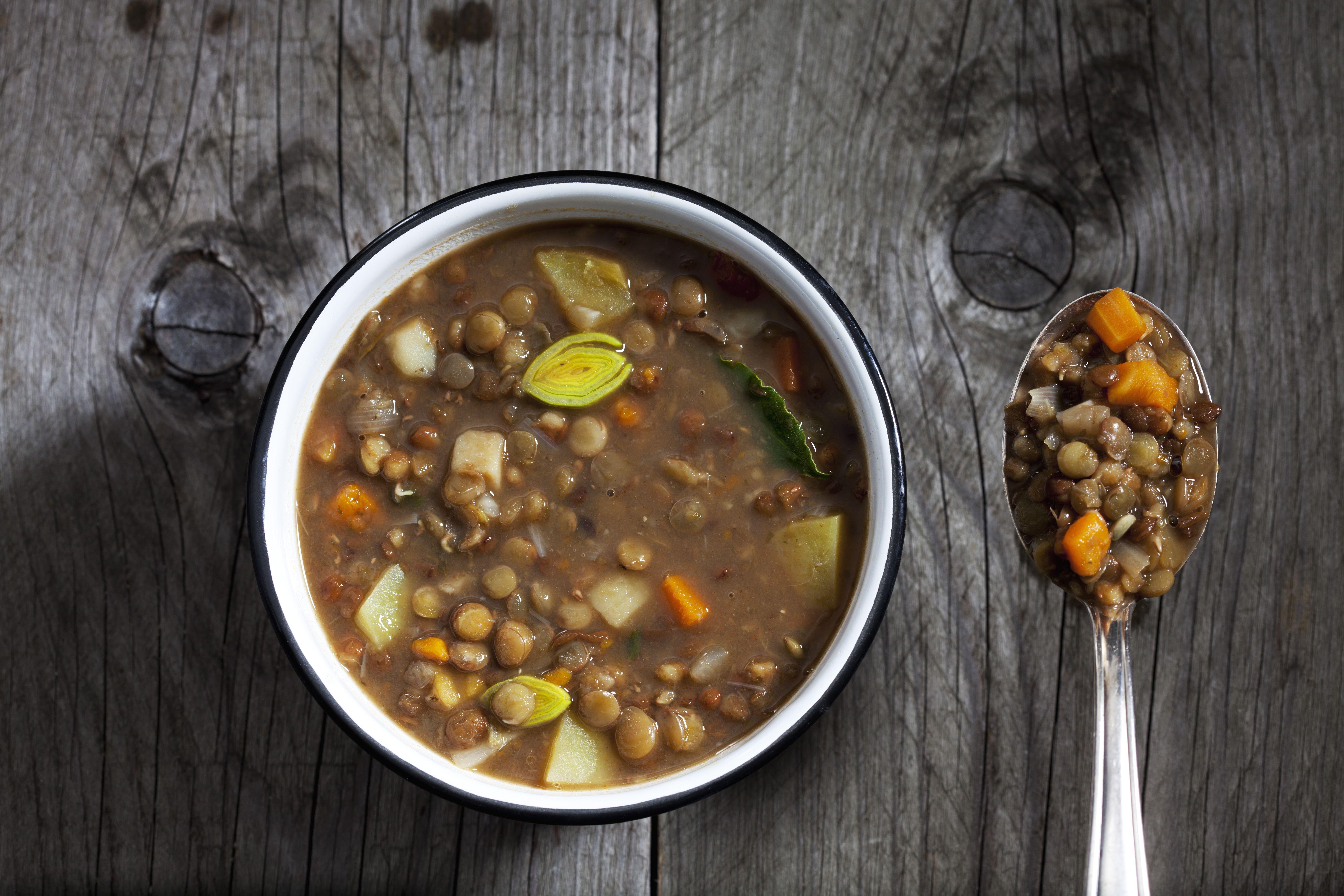Bowl of lentil soup