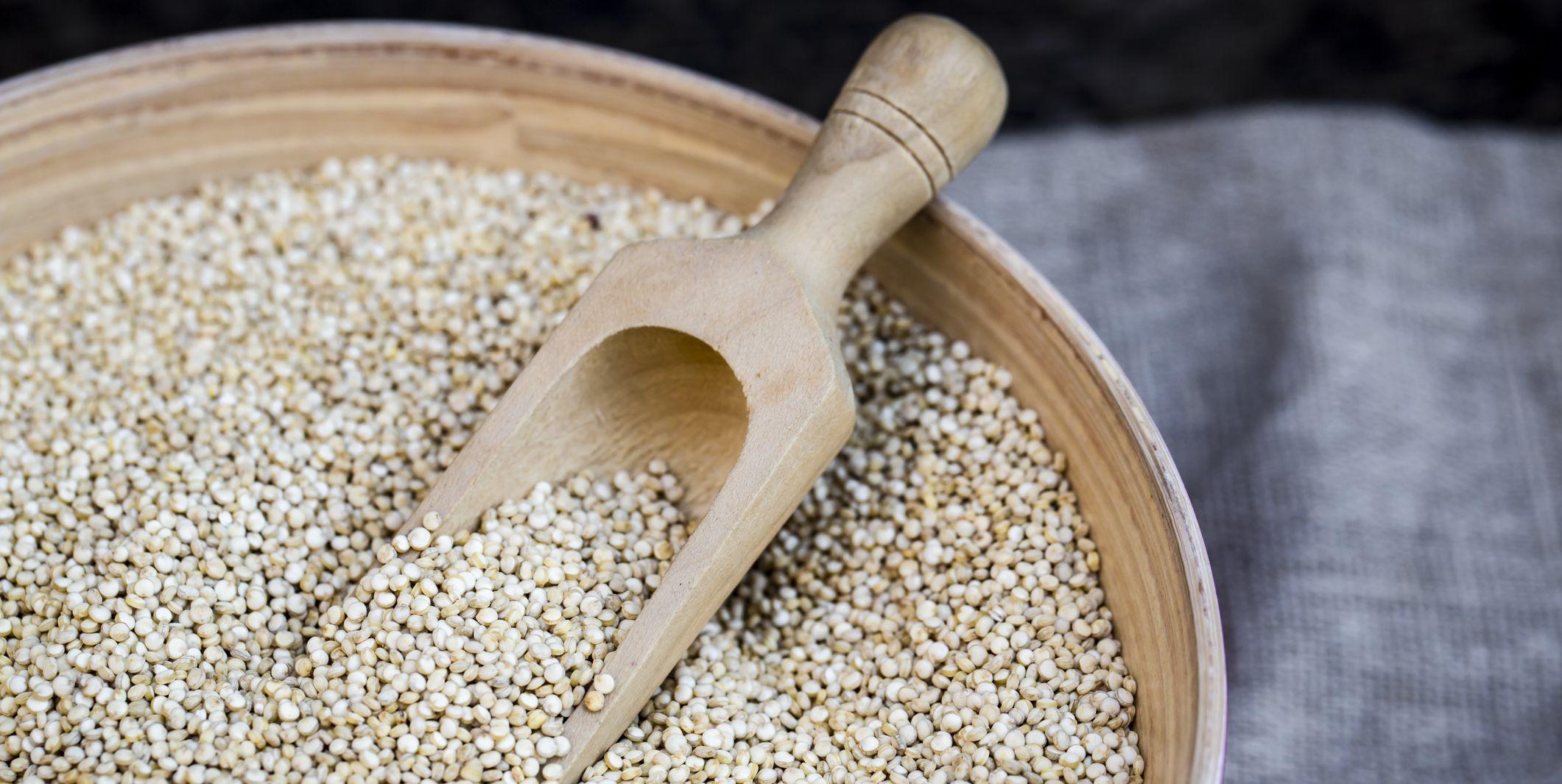 Bowl of organic quinoa