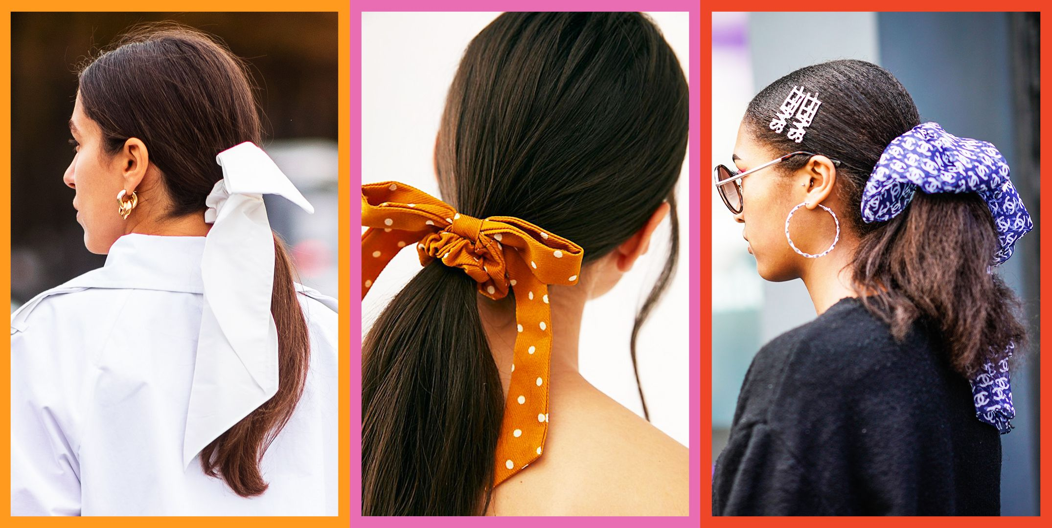 How To Wear Bows In Your Hair And Not Look Like You Re In Elementary School Best Bow Scrunchies