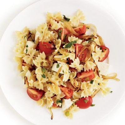 bowtie caprese tossed salad