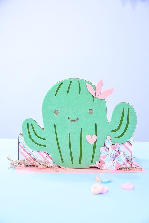 Cactus Valentine's Box