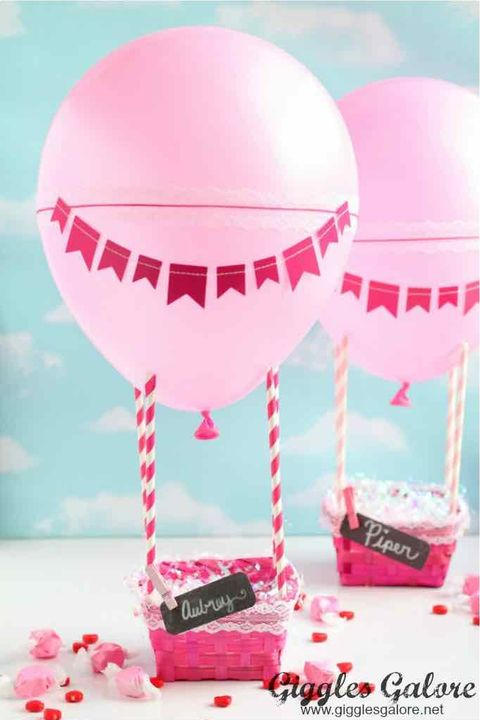 Hot Air Balloon Valentine's Day Box