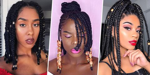 11 Pretty Box Braid Hairstyles 2018 - Box Braids Ideas & Inspiration