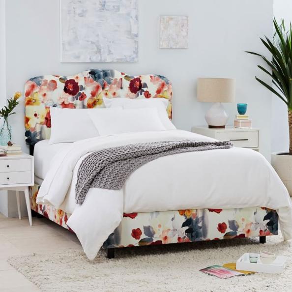 Furniture, Bedroom, Bed, Room, Bed frame, Interior design, Bed sheet, Bedding, Iron, Nightstand,
