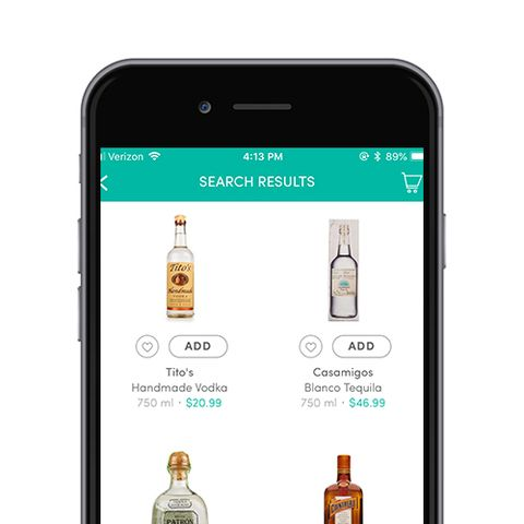 Boxed alcohol delivery app