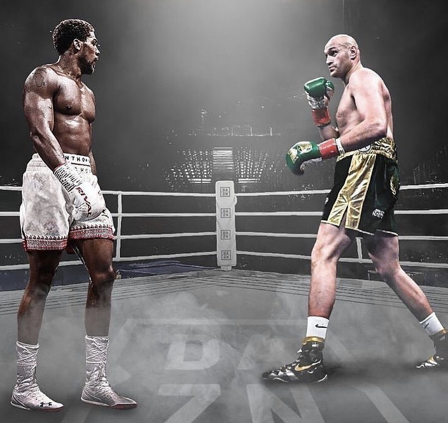 Anthony Joshua y Tyson Fury tuvieron un duro cruce verbal mediante redes sociales.