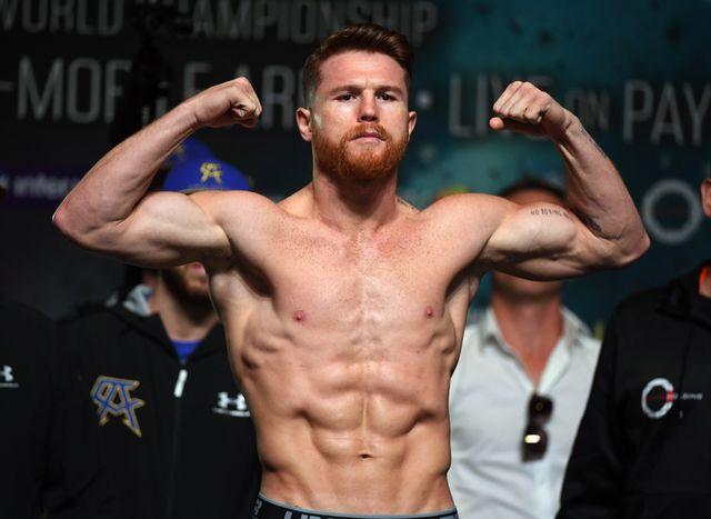 canelo Álvarez combate de boxeo, abdominales y entrenamiento