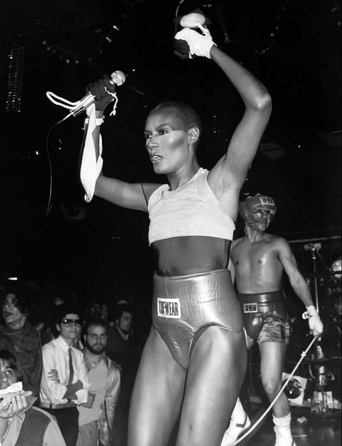 new york, ny   circa 1979 grace jones at studio 54 circa 1979 in new york city photo by robin platzerimagesgetty images