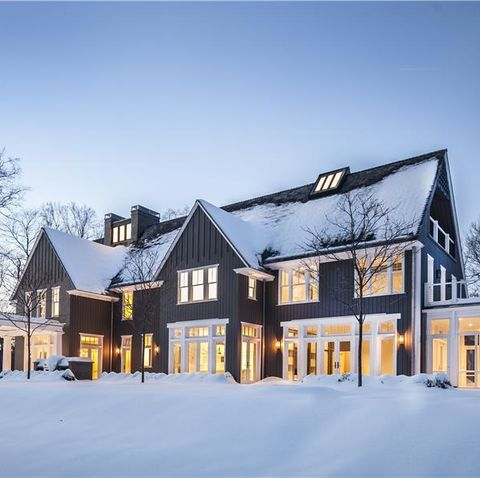 Home, Snow, Winter, Property, House, Building, Estate, Real estate, Freezing, Tree,