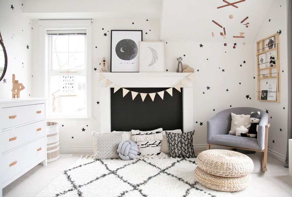 Winter Daisy Monochrome Boys Room & Boys\u0027 Room Ideas - Decorating for Baby Toddler and Tween Boys 2018