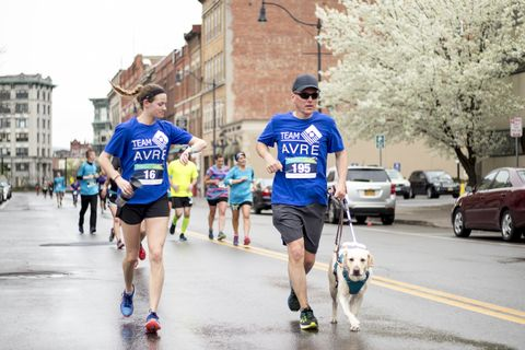 How This Visually Impaired Runner and Guide Dog Find Their Way