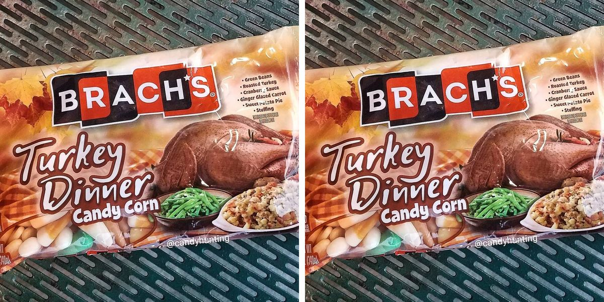 Brach's Just Released Turkey Dinner-Flavored Candy Corn With Stuffing Pieces