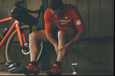 Brad Huff using PR lotion by Amp Human