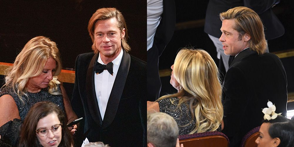 People Were Seriously Confused About Who Brad Pitt Brought to the Oscars Last Night