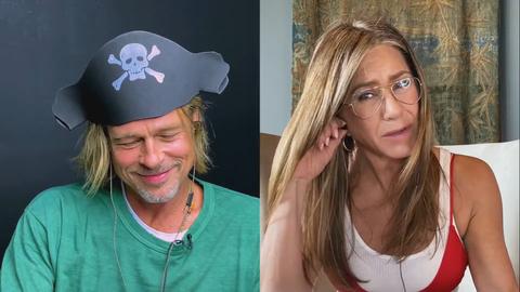 Brad Pitt y Jennifer Aniston no defraudan en su reencuentro