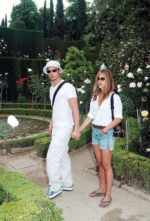 Jennifer Aniston y Brad Pitt en Granada.