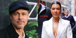 Brad Pitt en Kourtney Kardashian