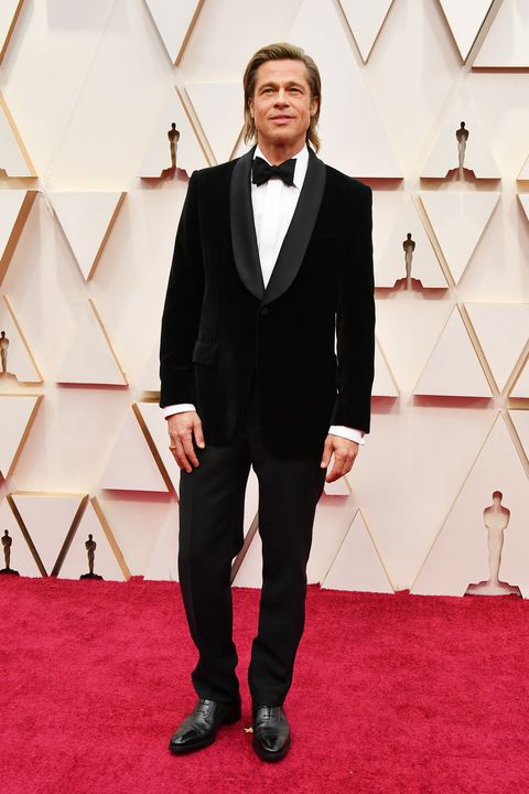 Acteur Brad Pitt bij de Oscars 2020