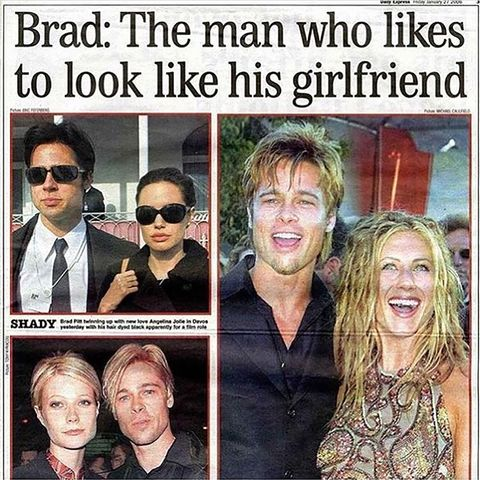 Brad Pitt and girlfriends