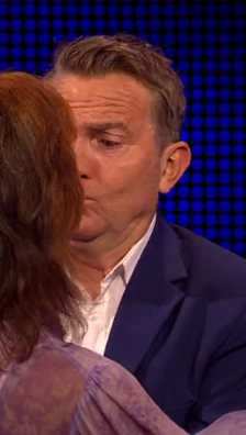 The Chase's Bradley Walsh kissed on air by overly-excited contestant