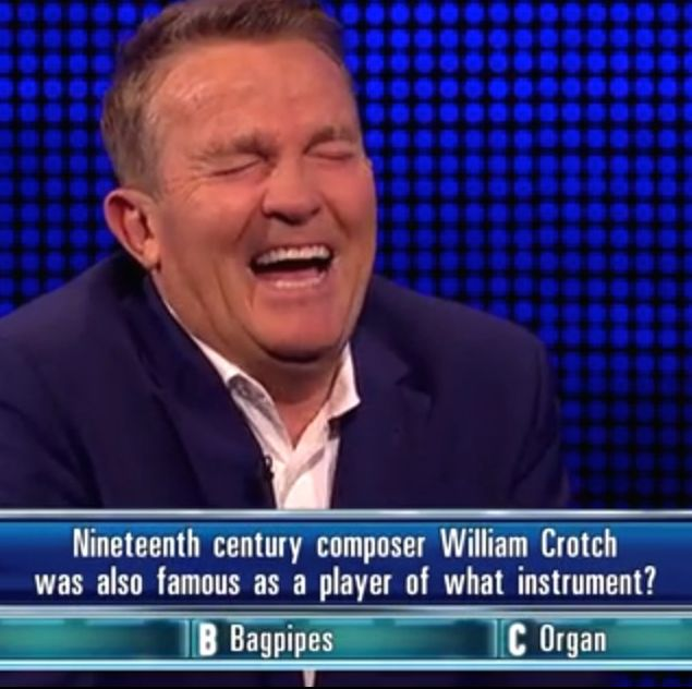 The Chase's Bradley Walsh cracks up over a question about William Crotch