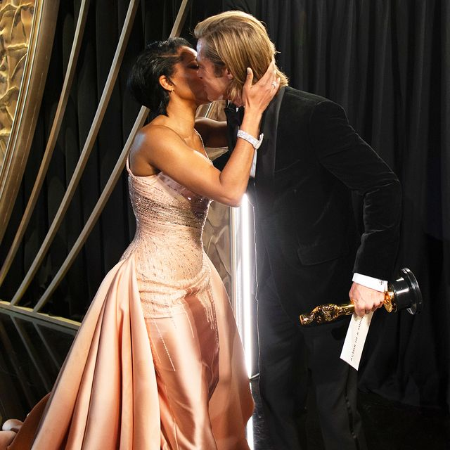 See Photos Of Brad Pitt And Regina King S Moment After His Oscar Win