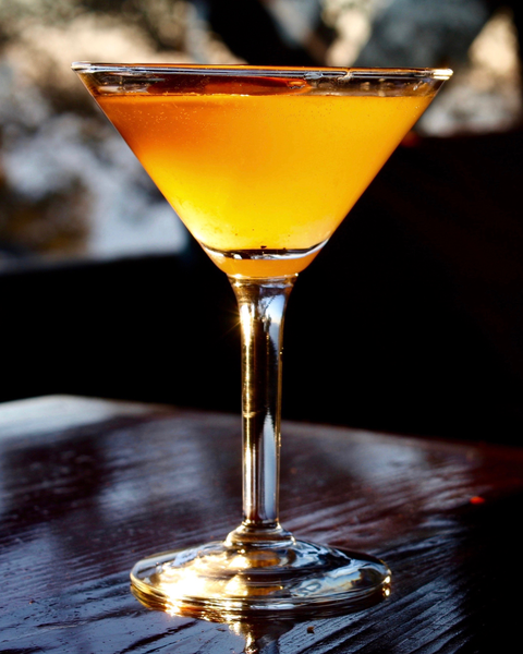 Sunlit Cocktail in a Martini Glass