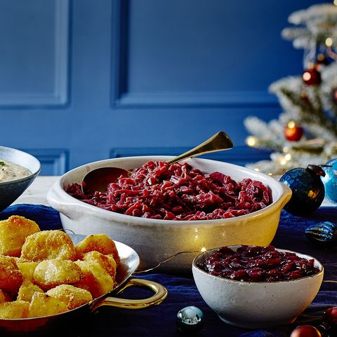 braised beetroot and cranberry cabbage
