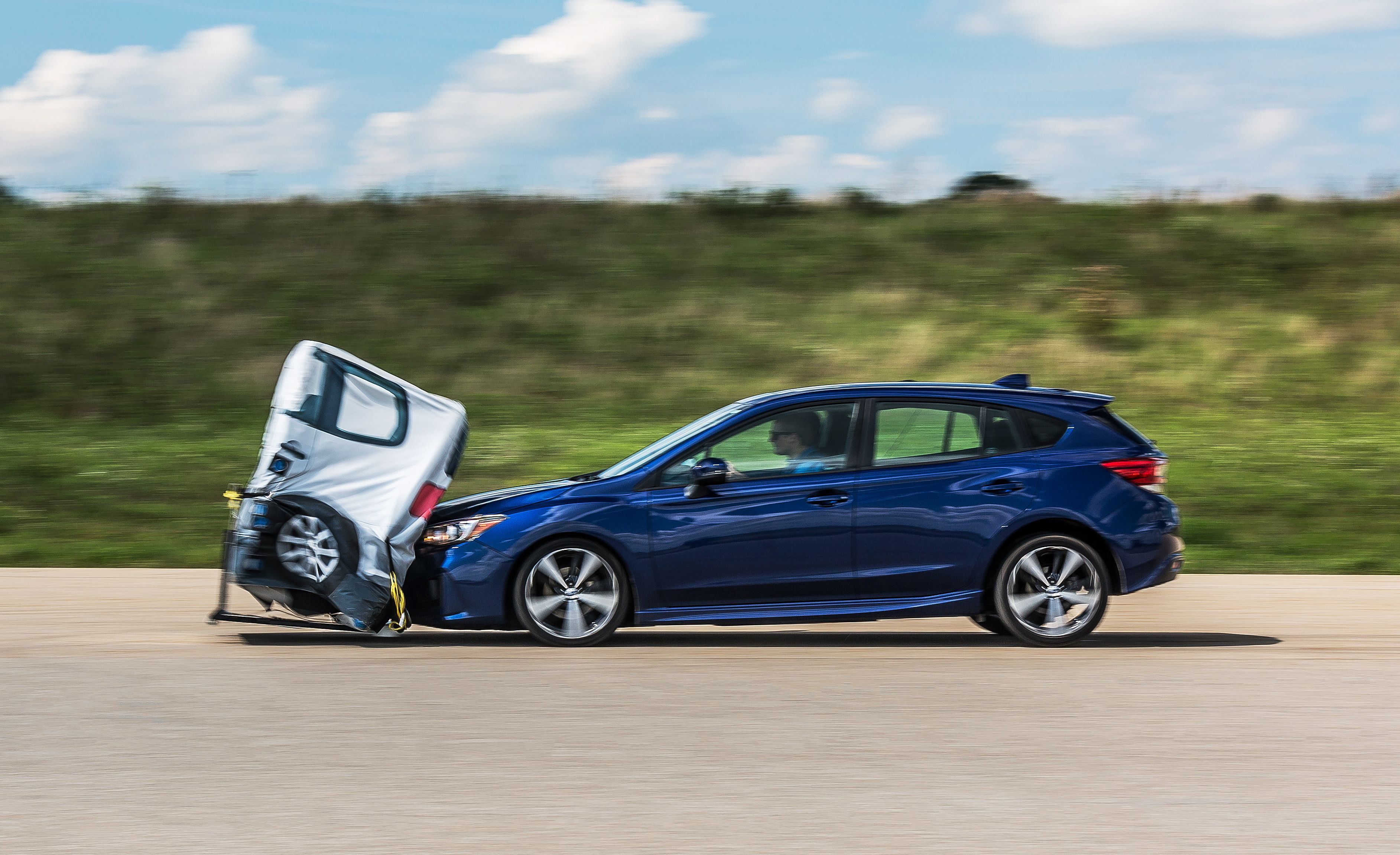 We Crash Four Cars Repeatedly To Test Their Automatic Braking Systems