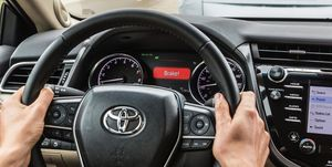 Toyota's Forward Collision Alert Feature in action