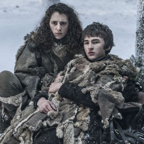 Meera Reed and Bran Stark in Game of Thrones