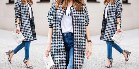 Clothing, Plaid, Street fashion, Tartan, Pattern, Jeans, Outerwear, Coat, Fashion, Denim,