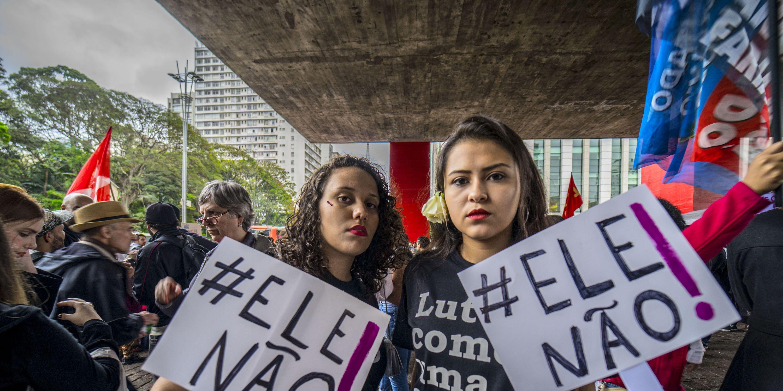 Women Protest Against Jair Bolsonaro