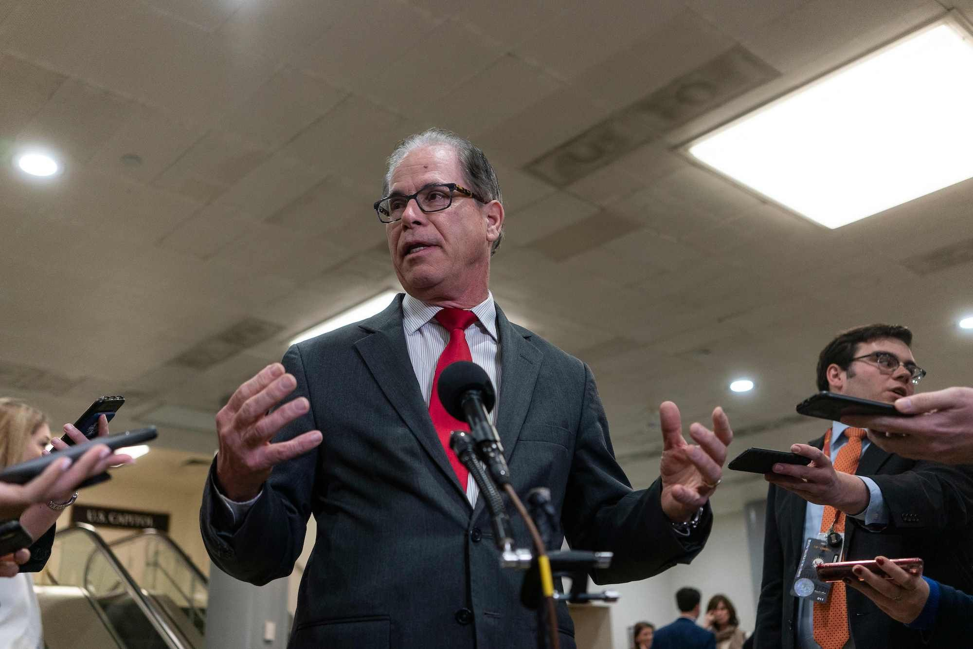Mike Braun Appeared Out of Nowhere to Join Trump's Impeachment Fire Brigade