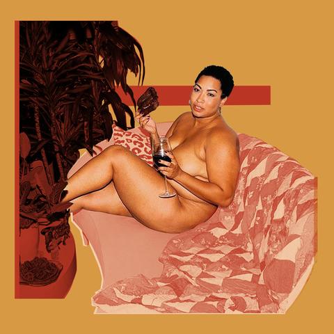 Illustration, Peach, Art, Black hair, Flesh, Sitting, Photography,