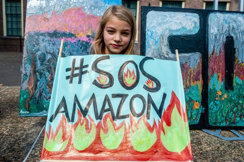 Demonstration In Support Of The Amazon In The Hague