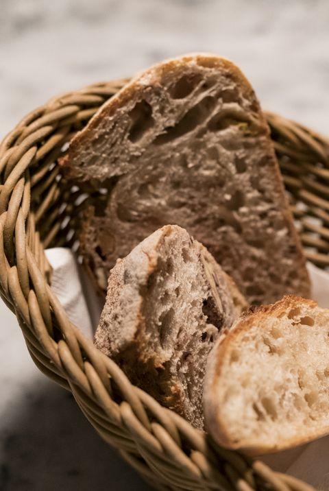 Bread Appetizers in Bamboo Basket