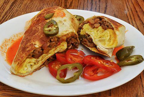 breakfast burrito with egg