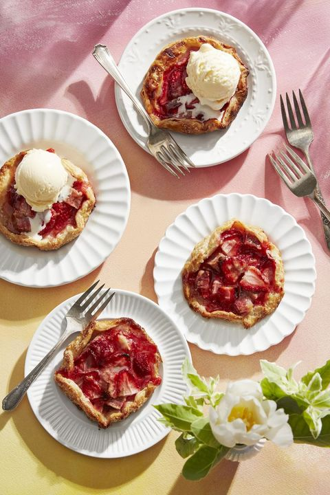 breakfast in bed strawberry rhubarb galettes