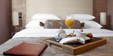 Breakfast in hotel room